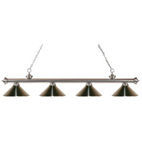 Riviera 4 Light 80 inch Brushed Nickel Island Light Ceiling Light in Brushed Nickel Metal