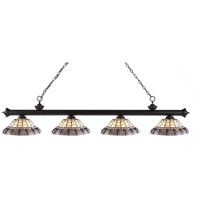 Z-Lite Riviera 4 Light Island Light in Bronze 200-4BRZ-H14-4