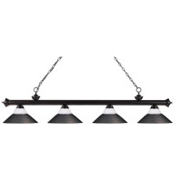 Riviera 4 Light 80 inch Bronze Island Light Ceiling Light