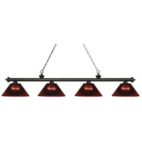 Z-Lite 200-4GB-ARBG Riviera 4 Light 81 inch Golden Bronze Island Light Ceiling Light in Acrylic Burgundy