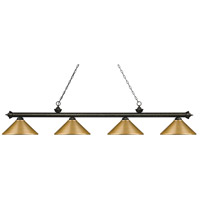 Z-Lite 200-4GB-MSG Riviera 4 Light 81 inch Golden Bronze Island Light Ceiling Light