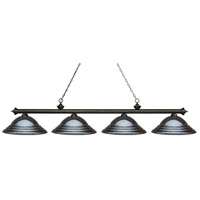 Z-Lite 200-4GB-SGM Riviera 4 Light 82 inch Golden Bronze Island Light Ceiling Light in Stepped Gun Metal