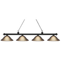 Black Antique Brass Island Lights