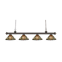 Z-Lite Riviera 4 Light Island Light in Olde Bronze 200-4OB-Z14-10