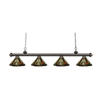 Z-Lite Riviera 4 Light Island Light in Olde Bronze 200-4OB-Z14-16