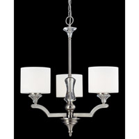 Z-Lite Avignon 3 Light Chandelier in Brushed Nickel 2000-3