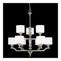 Avignon 9 Light 32 inch Brushed Nickel Chandelier Ceiling Light