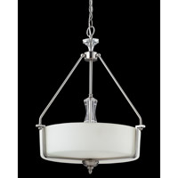 Avignon 3 Light 20 inch Brushed Nickel Pendant Ceiling Light