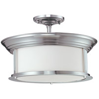 Sonna 3 Light 16 inch Brushed Nickel Semi Flush Ceiling Light