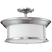 Z-Lite 2002SF-BN Sonna 3 Light 16 inch Brushed Nickel Semi Flush Mount Ceiling Light