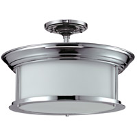 Sonna 3 Light 16 inch Chrome Semi Flush Mount Ceiling Light