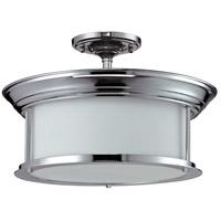Z-Lite 2003SF-CH Sonna 3 Light 16 inch Chrome Semi Flush Mount Ceiling Light