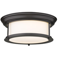 Z-Lite 2004F13-BRZ Sonna 2 Light 13 inch Bronze Flush Mount Ceiling Light