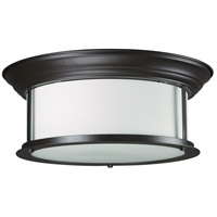 Sonna 3 Light 16 inch Bronze Flush Mount Ceiling Light