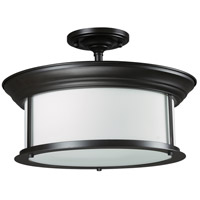 Sonna 3 Light 16 inch Bronze Semi Flush Mount Ceiling Light