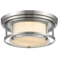 Luna 2 Light 13 inch Brushed Nickel Flush Mount Ceiling Light