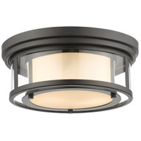Luna 2 Light 13 inch Bronze Flush Mount Ceiling Light
