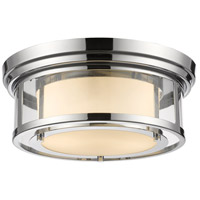 Luna 2 Light 13 inch Chrome Flush Mount Ceiling Light