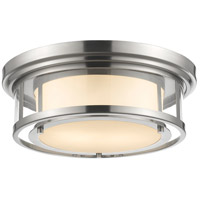 Luna 2 Light 16 inch Brushed Nickel Flush Mount Ceiling Light