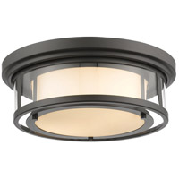 Luna 2 Light 16 inch Bronze Flush Mount Ceiling Light