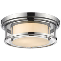 Luna 2 Light 16 inch Chrome Flush Mount Ceiling Light