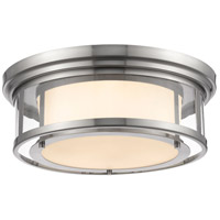 Luna 3 Light 18 inch Brushed Nickel Flush Mount Ceiling Light
