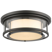 Luna 3 Light 18 inch Bronze Flush Mount Ceiling Light