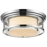 Luna 3 Light 18 inch Chrome Flush Mount Ceiling Light