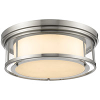 Luna 4 Light 21 inch Brushed Nickel Flush Mount Ceiling Light