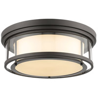 Luna 4 Light 21 inch Bronze Flush Mount Ceiling Light