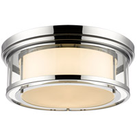 Luna 4 Light 21 inch Chrome Flush Mount Ceiling Light