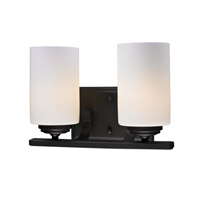 Z-Lite Chambley 2 Light Vanity in Oil Rubbed Bronze 2006-2V