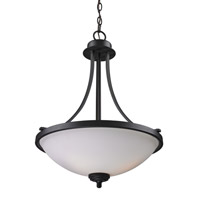 Z-Lite Chambley 3 Light Pendant in Oil Rubbed Bronze 2006P