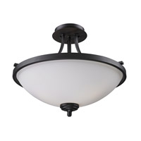Z-Lite Chambley 3 Light Semi-Flush Mount in Oil Rubbed Bronze 2006SF