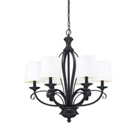 Z-Lite Charleston 6 Light Chandelier in Matte Black 2007-6