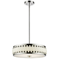 Sevier LED 16 inch Chrome Pendant Ceiling Light in 4