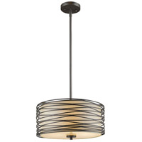 Z-Lite 2009-14BRZ Zinnia 3 Light 14 inch Bronze Pendant Ceiling Light