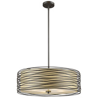 Zinnia 3 Light 18 inch Bronze Pendant Ceiling Light