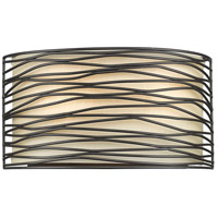 Zinnia 2 Light 8 inch Bronze Wall Sconce Wall Light