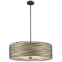 Zinnia 4 Light 24 inch Bronze Pendant Ceiling Light