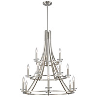 Verona 15 Light 32 inch Brushed Nickel Chandelier Ceiling Light