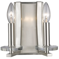 Z-Lite 2010-2S-BN Verona 2 Light 9 inch Brushed Nickel Wall Sconce Wall Light