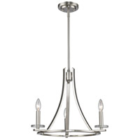 Verona 3 Light 20 inch Brushed Nickel Chandelier Ceiling Light