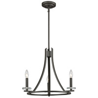 Verona 3 Light 20 inch Bronze Chandelier Ceiling Light