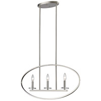 Verona 3 Light 3 inch Brushed Nickel Pendant Ceiling Light