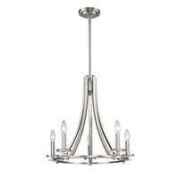 Verona 5 Light 22 inch Brushed Nickel Chandelier Ceiling Light