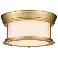 Z-Lite 2011F10-HBR Sonna 2 Light 11 inch Heritage Brass Flush Mount Ceiling Light