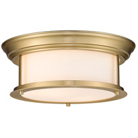 Z-Lite 2011F13-HBR Sonna 2 Light 14 inch Heritage Brass Flush Mount Ceiling Light