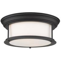 Z-Lite 2011F13-MB Sonna 2 Light 14 inch Matte Black Flush Mount Ceiling Light