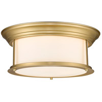 Z-Lite 2011F16-HBR Sonna 3 Light 16 inch Heritage Brass Flush Mount Ceiling Light